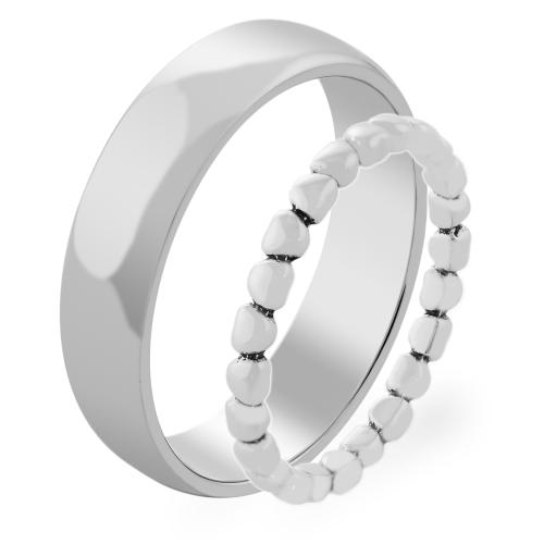 RINDAL heart shape gold wedding ring