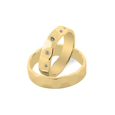 RONI relief gold wedding rings