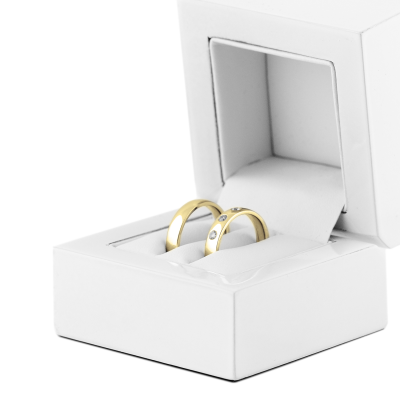 Gold wedding rings with diamonds SKIEN