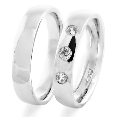 Platinum wedding rings with diamonds SKIEN