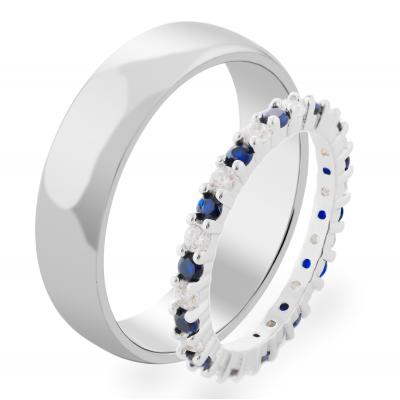 Zlaté snubní drahokamové prsteny STIKI (0.60ct)
