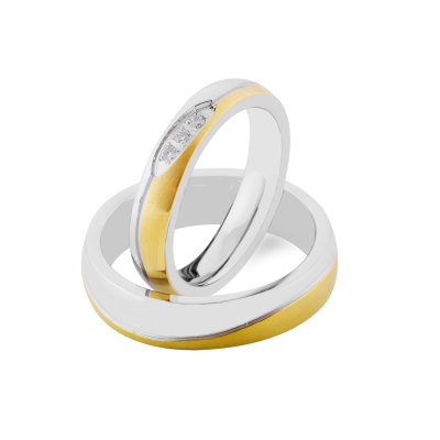 SYWA delicate combination gold diamond wedding rings