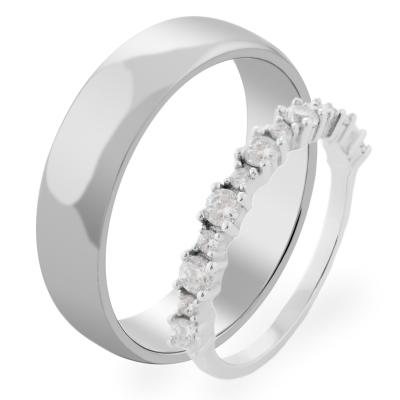 VORME gold diamond wedding rings
