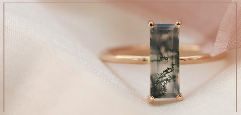 JEWELRY WITH MOSS AGATE
